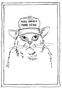Make America Purr Again Greeting Cards
