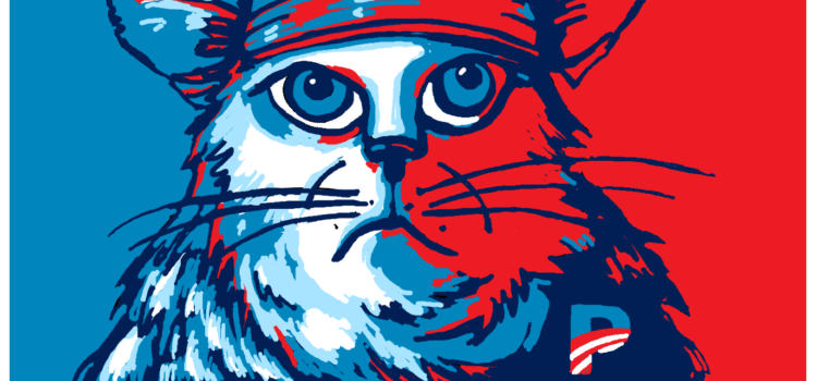 Red Cap Cat Addresses the Question of Republican or Democrat!