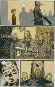 Northlanders, page from Lindisfarne