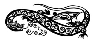 Celtic Dragon from the letter story, Flightless, by David Borden