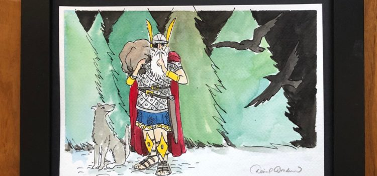 Drawing of Odin as the Yule Father.