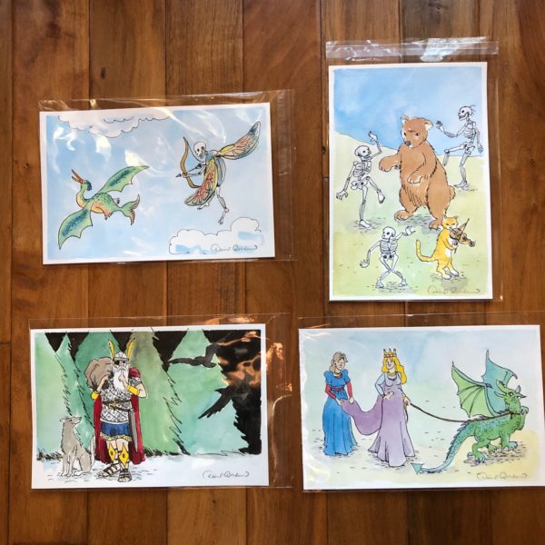 Yule package of 4 drawings by David Borden